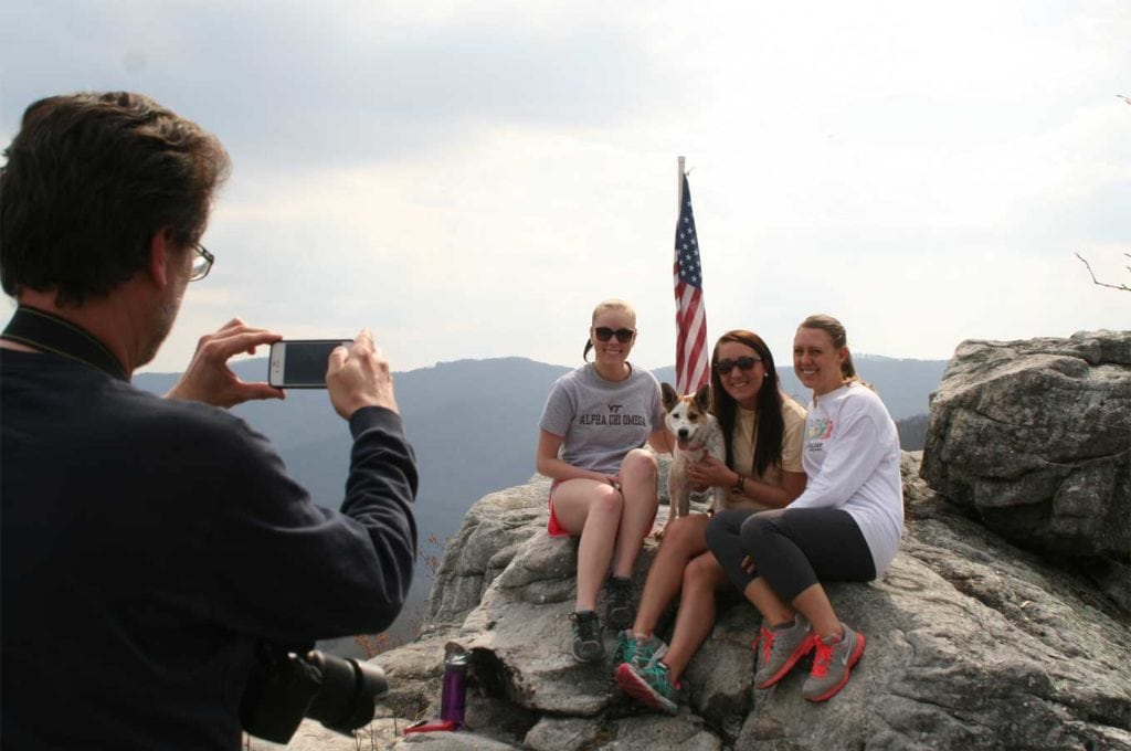 Family enjoying the views of the Cumberland Mountains